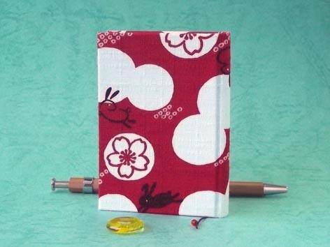 画像2: お散歩てのひらノート6.5×9.0(桜紋うさぎ)