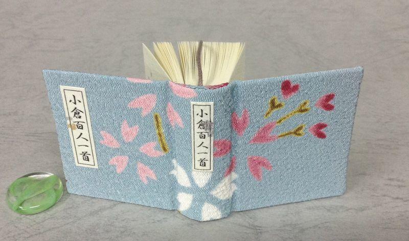 """""""ちはやふる"""" ♪教室の窓からみえる山桜♪ 「小倉百人一首」豆本 ◎京都・海文舎製"""