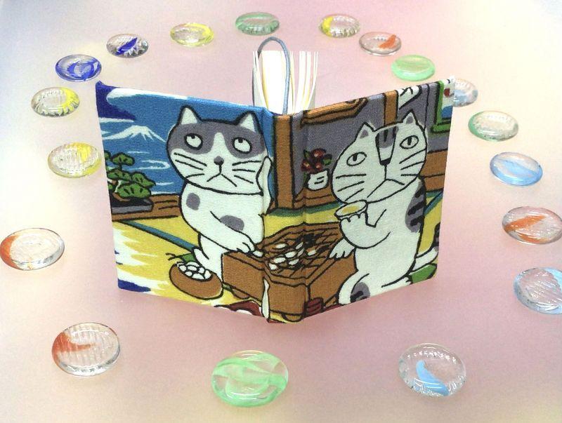 ◎猫のGO⇔to囲碁蜜になる!? 豆本のーと 4,5cm×5,8㎝120頁 ◎京都手作りお散歩