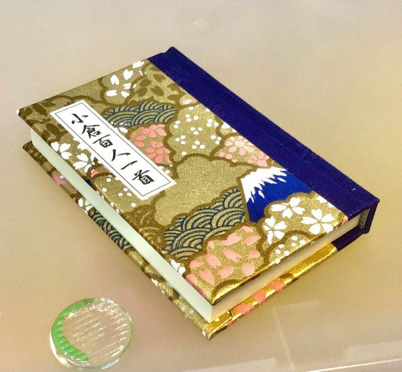 """""""ちはやふる"""" 娘さんの・お孫さんの嫁入り道具に入れたい「小倉百人一首」豆本 表紙が日本古来の和紙"""