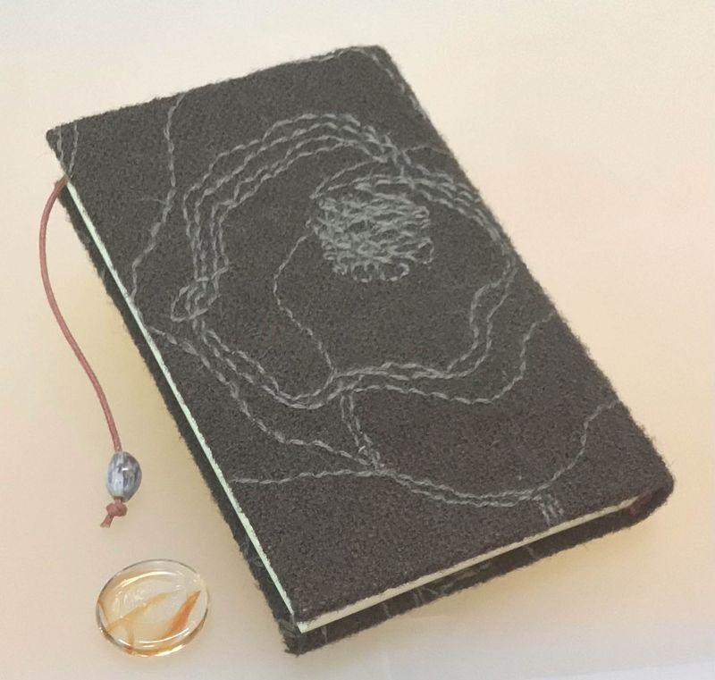 ◎バラ柄の「ポケットにちょい入れノ-ト」 100頁 名刺よりちょいと大き目 ◎京都手作りお散歩